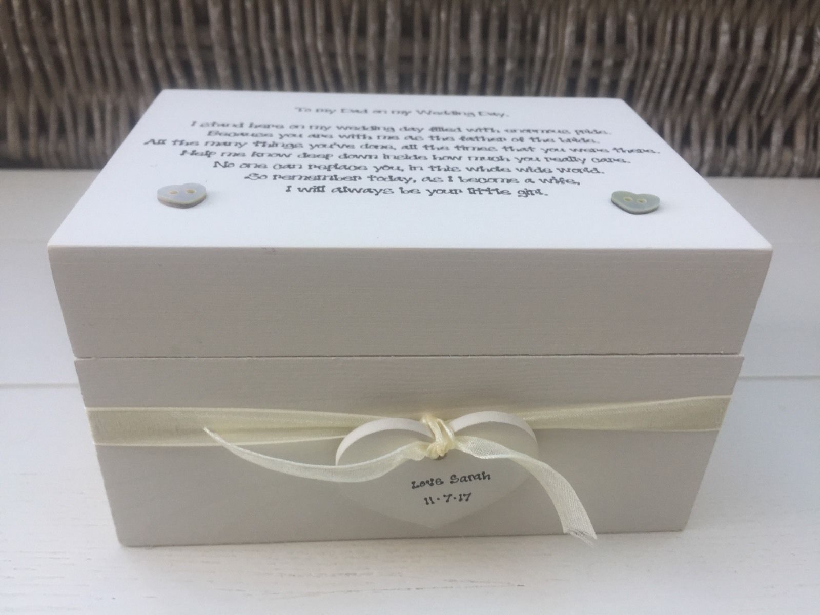 Keepsake Wedding Gifts: Shabby Personalised Chic Special Father Of The Bride Gift